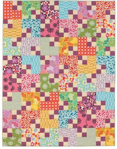 """""""Four-Patch Shift"""" by Julie Herman, from the book Easy Weekend Quilts."""