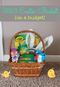 Sugarless and fun easter basket ideas for toddlers and babies last year i did a post with ideas for babys first easter basket this year negle Images