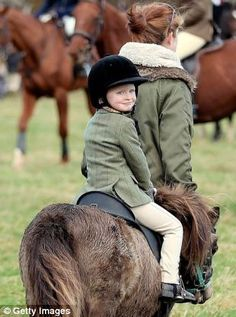 The Duke of Beaufort's Hunt - This young rider looked to be having fun on the ride