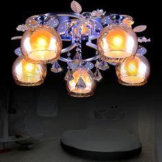 Modern Creative Glass Crystal Living Room Ceiling Lamp Dining Room Ceiling Lamp Bedroom Ceiling Lamp