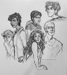 So I just finished Six Of Crows and it was REALLY good! Fantastic blend of humor, romance, plot, magic, and diversity! I tried to sketch out the characters the way I imagined them before I saw other fanart!