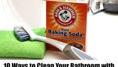 How to Clean the Bathroom With Baking Soda - 10 Fresh Ideas Recipe With Baking Soda, Soda Recipe, Baking Soda Uses, Cleaning Faucets, Bathroom Cleaning, Grout Cleaner, Shower Cleaner, Baking Soda Cleaner, Natural Kitchen