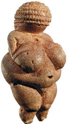 Venus of Willendorf  (Fertility Goddess Figure Carved 24,000 - 22,000 BCE, found in Southern Austria) Held at  Naturhistorisches Museum, Vienna. http://www.nhm-wien.ac.at/en?null  Wiki: http://en.wikipedia.org/wiki/Venus_of_Willendorf