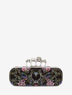 Commandez des Minaudière Avec Fermoir Bijou Brodée pour Femme sur la boutique en ligne officielle de l'emblématique créateur de mode Alexander McQueen.