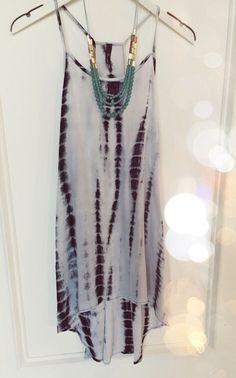 Tie dye dress #swoonboutique