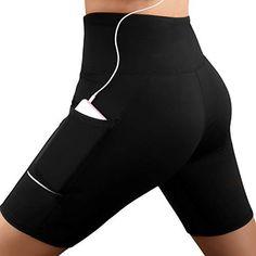Shorts de Sport Femme Pantalon Yoga avec Poche latérale Legging CourtTaille  Haute Legging Sport Femmes Mode Faire des Exercices Leggings Pantalon de  Sports ... a307be8f07c