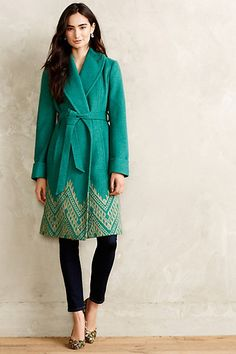 Stitched Jali Coat - anthropologie.com $300. Yep. I die a little inside for this coat.