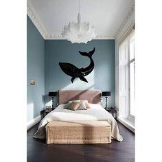 Humpback Whale Silhouette Vinyl Wall Words Decal Sticker Coastal Home Decor Art