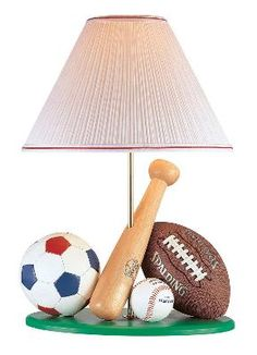 Sports lamp for boys room