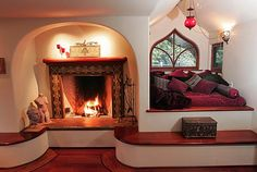 Fireplace & snuggle nook