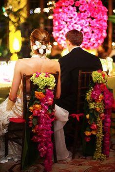 chair garlands. !!!!. #wedding #decor