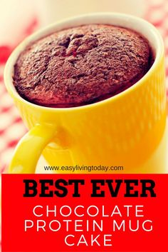 Do you miss chocolate cake but want to stay on track with your diet?? Then this delicious protein powder mug cake is for you! via @easylivingtoday