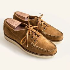 Oakstreet Bootmakers Peanut Suede Vibram Sole Trail Oxford