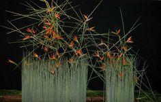 Ikebana Arrangements, Floral Arrangements, Flower Arrangement, Art Floral, Ikebana Sogetsu, Corporate Flowers, Museum Of Contemporary Art, High Art, Land Art