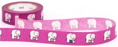 purple elephant mt Washi Masking Tape deco tape