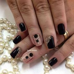 Love he black and pearl design!!!muitoooooooo lindaaaaaaaaaasssssss