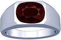 #Jewelry  Platinum Cushion Cut Ruby Mens Ring