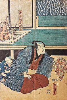 Toyokuni III (Kunisada I) (1786-1865) - Un actor în kimono / Actor in kimono