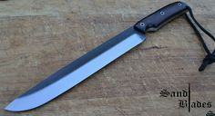 Old Nicholson 2nd cut file 1095 high carbon steel 1500 grit satin finish 6mm thick OAL 335mm Blade 217mm Chacate scales