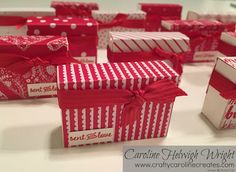 CraftyCarolineCreates: Mini treat gift box Video Tutorial using Sealed With Love and Sending Love by Stampin' Up
