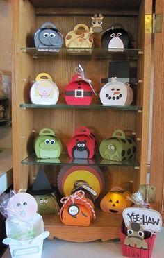 "By Lynn Starzl, Stampin' Up! ""Curvy Keepsake Box"" and ""Fry Box"" creations using Punch Art and the Curvy Keepsake Box and Fry Box dies ..."