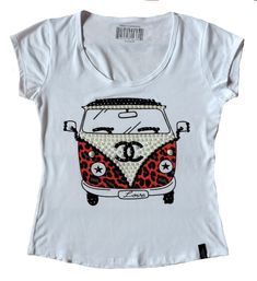 Camiseta T-shirt Blusa Feminina Kombi Pedras Fashion 2017 - R$ 65,00