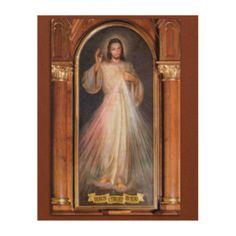 THE DIVINE MERCY DEVOTIONAL IMAGE (ORIGINAL) WOOD WALL DECOR