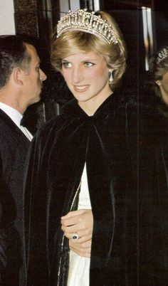 June 15, 1983: Princess Diana arriving at a State Dinner hosted by Prime Minister Pierre Trudeau at the Hotel Nova Scotian in Halifax. (Day 2)