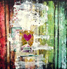 Beautiful art piece, journal page. mixed media love!