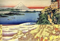 Japanese Woodblock Mount Fuji Prints By Hokusai 2 Reproduction Pictures