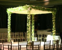 Roses within perspex chuppah by Mary Jane Vaughan flowers
