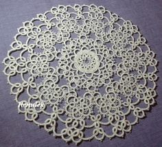 The entire pattern is a gigantic, 13-round doily but I think tatting the first 5 rows is fine too thank you very much x) This is beautiful