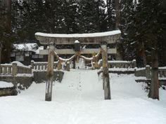 Shrine in Habuba, Japan  http://www.cheapojapan.com/cheap-snowboarding-and-amazing-mountains-hakuba-report/ #travel #holiday #snow #ski #snowboard