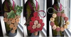 Wine Cork Christmas Ornaments - Homemade Wine Cork Crafts, http://hative.com/homemade-wine-cork-crafts/,