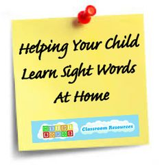 Helping Your Child Learn Sight Words at Home