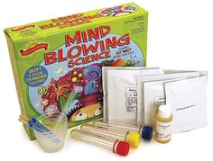 Scientific Explorer Mind Blowing Science by Poof-Slinky, Inc. - $18.95    Erupt a color changing volcano. Mix up magic ooze with a mind of its own. Play with sand that never gets wet. Mix safe chemicals and watch colors change before your eyes. You'll amaze yourself and your friends as you explore the science behind these truly remarkable reactions. Ages 4+