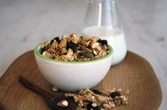 Crunchy Crisp Muesli - Whip up some egg whites, throw in some honey and spice, mix it all together and pop it in the oven. Done!