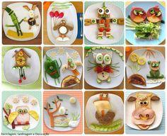 Lindos pratos criativos para crianças