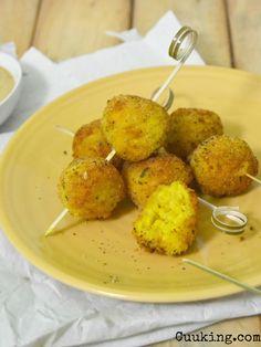 Cuuking!: Arancini di riso e parmigiano. Croquetas de arroz italianas