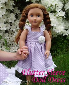 PACountryCrafts: Flutter Sleeve Doll Dess-Free tutorial