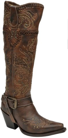 Corral Boots Womens Leather Tall Whip Stitch Brown Cowgirl For the finest western cowboy boots, the brand to trust is Corral Boots. These handcrafted boots are made with high quality exotic skins and leather by the most Cowgirl Boots, Western Boots, Riding Boots, Cowboy Western, Cowboy Girl, Corral Boots Womens, Cowboy Outfits, Bar Outfits, Boot Bling