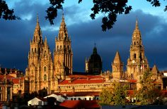 Santiago de Compostela Cathedral in Spain, burial place of St. James the Greater