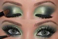 20 Gorgeous Makeup Ideas for Green Eyes - I only think a few of these are actually pretty
