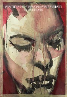 """Marlene"" Acrylics on Paper 2015"