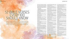 52 Bible Verses Every Kid Should Know