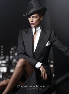 First image released from the Donna Karan fall/winter 2012-2013 ad campaign featuring Aymeline Valade. Photographed by Russell James. Image: TFS