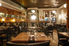 Restaurant In Dublin, Rustic Stone Restaurant Dublin City by Dylan McGrath, Irish Pub Interior, Stone Restaurant, Restaurants In Dublin, Stone Interior, Rustic Stone, Dublin City, Table Settings, Furniture, Home Decor