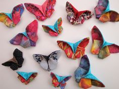 creakath: Vol de papillons Butterfly Quilt, Origami Butterfly, Fabric Crafts, Sewing Crafts, Fun Crafts, Diy And Crafts, Textiles, Japanese Fabric, Origami Paper