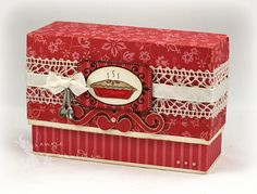 Recipe Box - Tutorial for making this pretty box.     http://justgivemestamps.typepad.com/my_weblog/2009/04/recipe-box-tutorial.html#