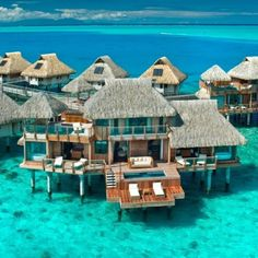I hope my future husband is rich because I definitely want to go here for my honeymoon! Bora bora